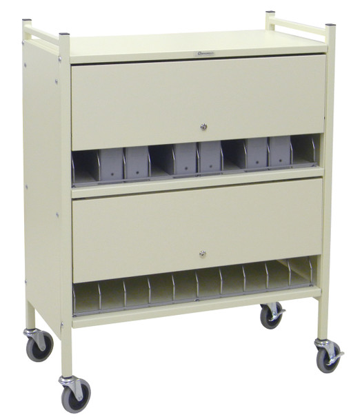 Economy Privacy Style Chart Racks (Wired Dividers & Lockable)