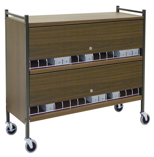 Extra Wide Privacy Style Chart Rack (Wired Dividers & Lockable)