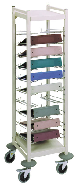 Horizontal Open Style Chart Rack (Wired Dividers 1-4 Tier)