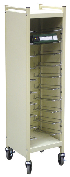 Horizontal Cabinet Style Chart Rack (Wired Dividers 1-4 Tier)