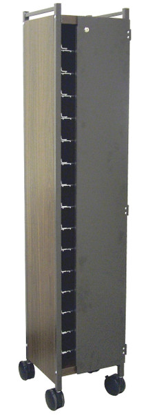Horizontal Privacy Style Chart Rack With Locking Panels (Wired Dividers 1-4 Tier)