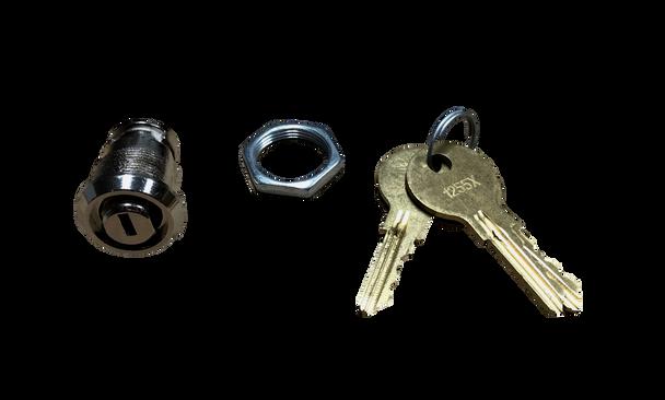 Flat Key Cylinder Replacement & 3 Flat Keys