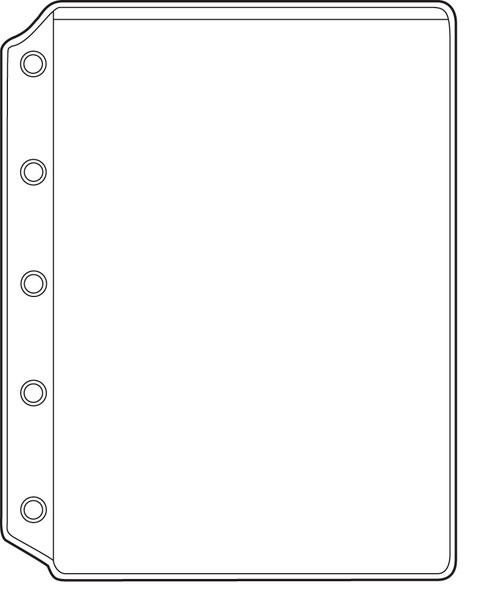 "1 Pocket Plastic Sheet Protector Side Opening Binders, 8 3/4"" x 11""  (10 Pack)"