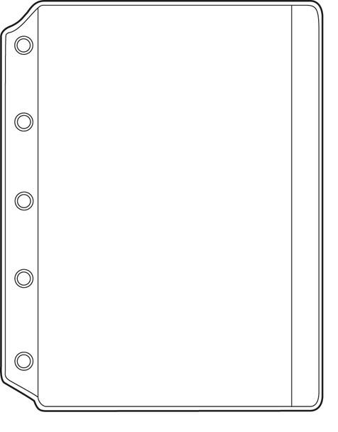 """1 Pocket or Side Opening Binders, 8 1/4"""" x 11"""" Pocket (10 Pack)"""