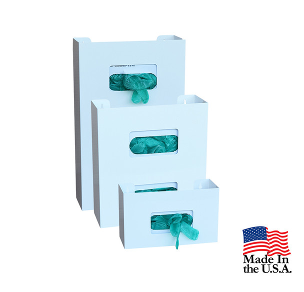 Powder Coated (White) Steel Glove Box Holders (Single,Double,Triple)