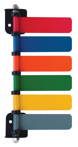 "Standard 4"" Exam Room Status & Signal Flag System (6 Flag)"