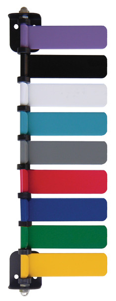 Lavender, Black, White, Turquoise, Gray, Red, Blue, Green & Yellow