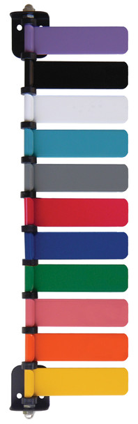 Lavender, Black, White,Turquoise, Gray, Red, Blue, Green, Coral, Orange & Yellow
