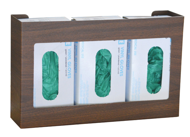 Woodgrain Triple Stainless Steel Glove Box Holder (305303-1WG)