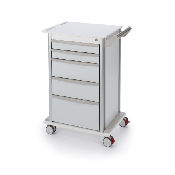 """5 Drawer Transport Cart With 3"""" Casters"""