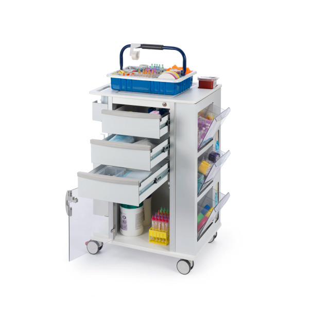 """Omni Phlebotomy Cart With 3"""" Casters"""