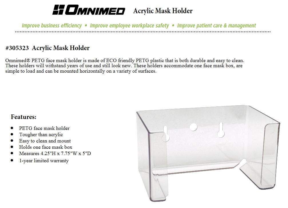 Aluminum Omnimed  305321 Adjustable PPE Holder