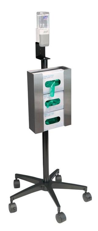 Mobile Glove Amp Hand Sanitizer Stand 350351 Omnimed