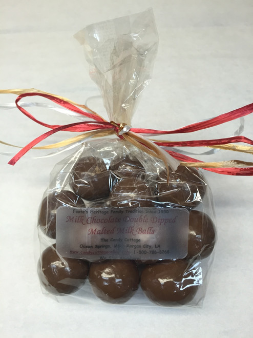 1/2 Lb - Milk Chocolate Double Dipped Malted Milk Balls