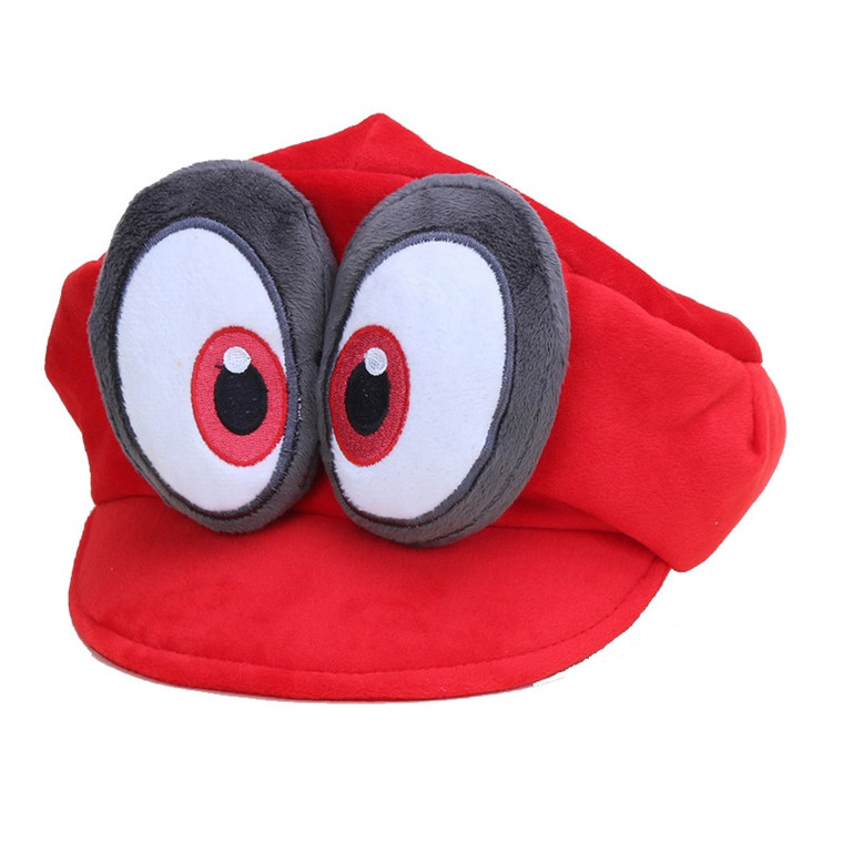 Game Super Mario Odyssey Hat Adult Kids Anime Cosplay Caps Super Mario Bros Plush Toy Dolls Hallowen Party Props