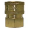 """3/8"""" FPT Brass Coupler"""