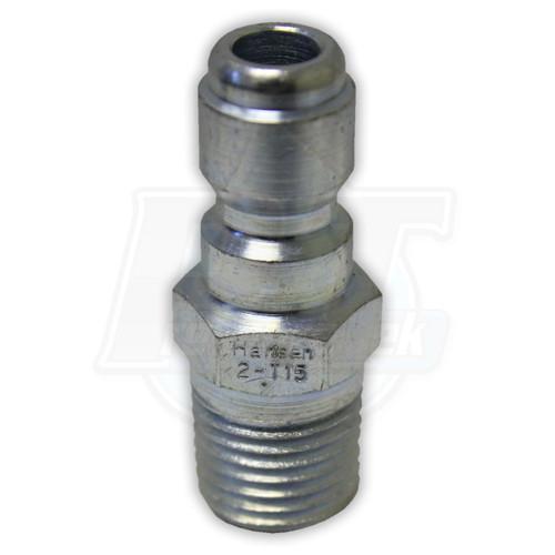 "1/4"" MPT Hansen Steel Plug - Zinc Coated"
