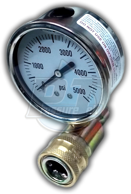 Stainless Steel Quick Connect Pressure Gauge