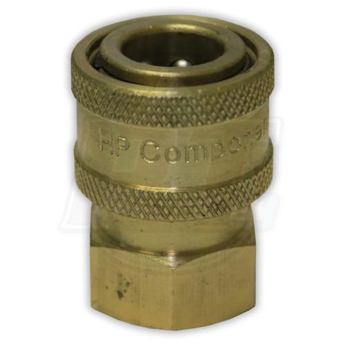 """1/4"""" FPT Brass Coupler"""