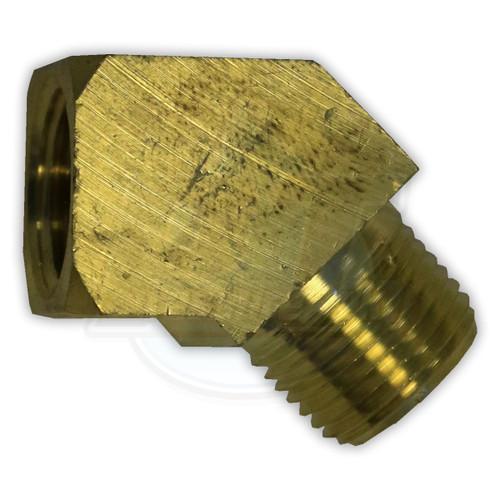 Brass 45° Street Elbow FPT x MPT