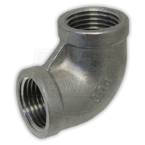 """1/2"""" FPT Stainless Steel 90° Elbow"""