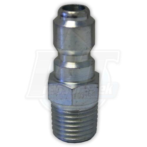 "1/4"" MPT Foster Steel QC Plug - Zinc Coated"