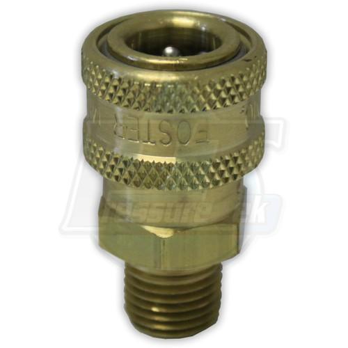"""1/4"""" MPT Foster Brass QC Socket"""
