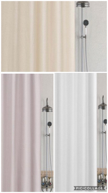 WAFFLE SHOWER CURTAINS