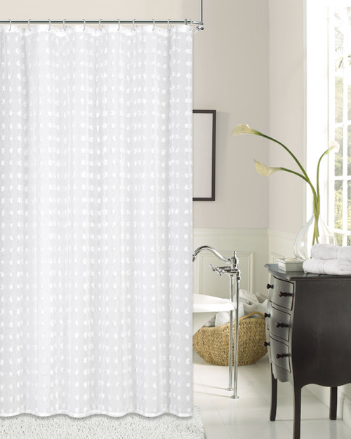 CUT FLOWER SHOWER CURTAIN