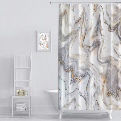 MARBLE INK SHOWER CURTAIN