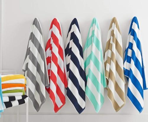 CABANA STRIP BATH SHEET TOWELS