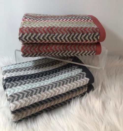 MULTICHEVRON COLLECTION - HAND TOWELS