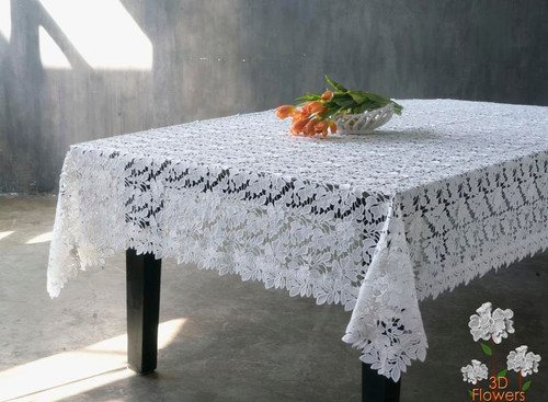 GUIPURE ORCHID LACE TABLECLOTH