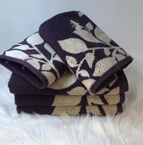 LEAVES COLLECTION BATH AND HAND TOWEL