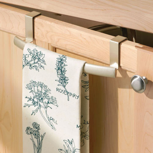 OVER CABINET CURVED CHAMPAGNE TOWEL BAR