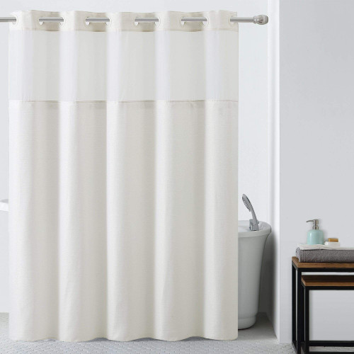 SILVER LUX HOOKLES SHOWER CURTAIN