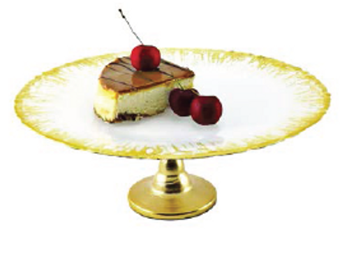 MILKY CAKE STAND FLASHY GOLD DESIGN