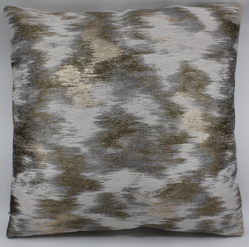 OFF WHITE AND GOLD THROW PILLOW
