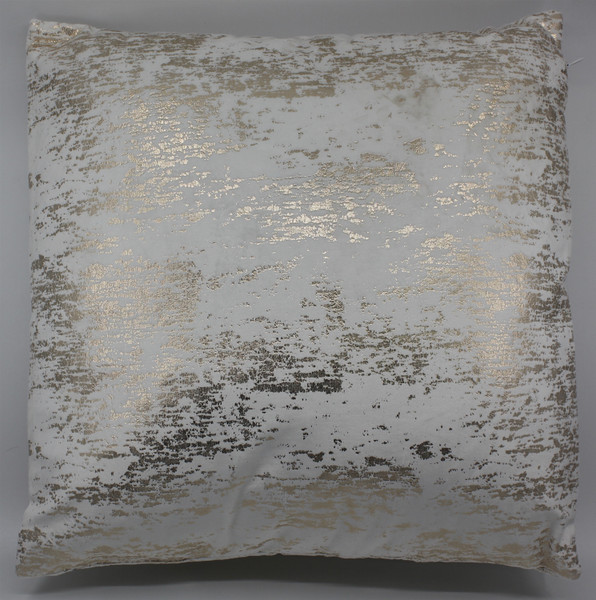 GOLD AND OFF WHITE THROW PILLOW