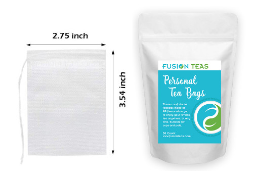 Personal Tea Bags with Drawstring