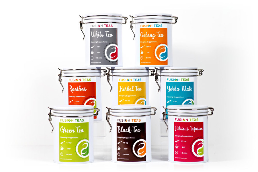 Tea Storage Tin With Latch - Medium