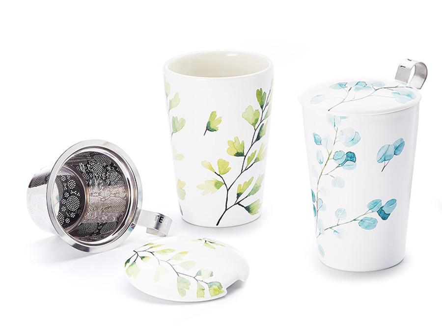 Porcelain Infuser Mug - Double Wall