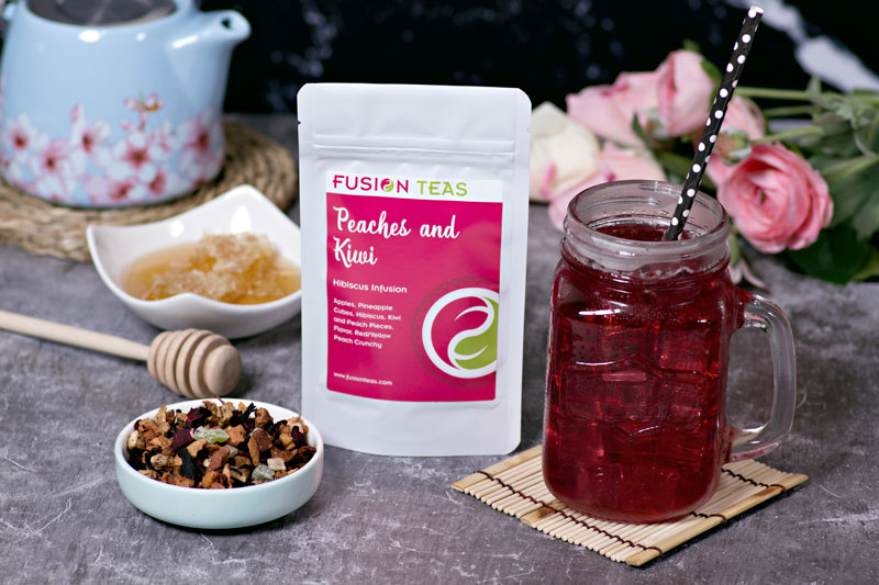 Peaches and Kiwi Hibiscus Tea