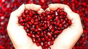Pomegranate Heart Shape