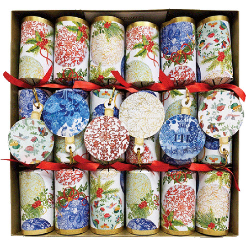 Porcelain Ornaments Christmas Crackers 6 Per Box Scandinavianshoppe