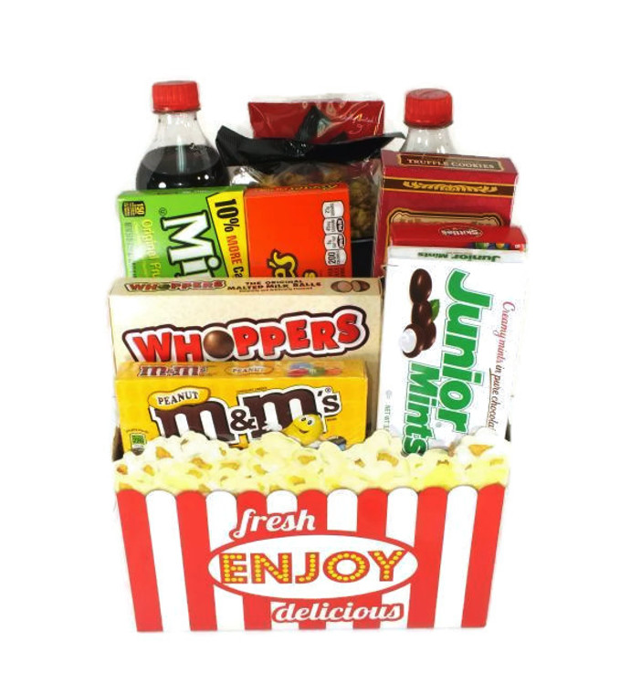Movie night basket makes for great gift birthday and new home owner with kids.
