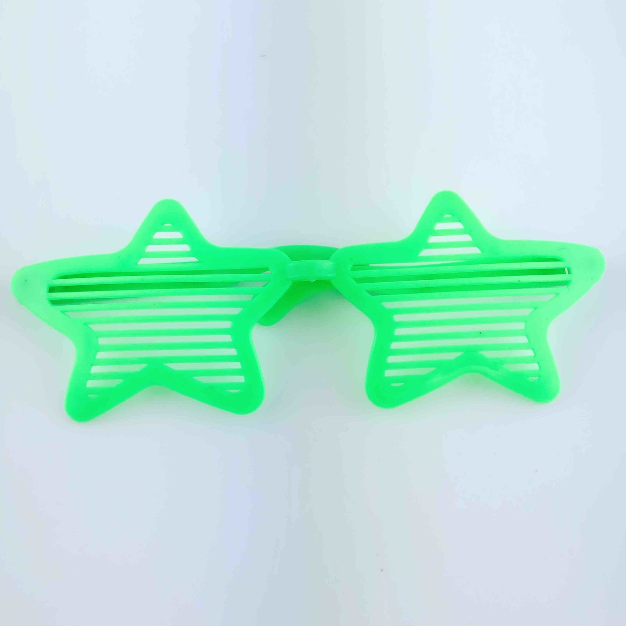 Star Shaped Blinds Glasses Green Discount Party World