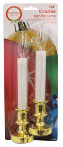 2pk Christmas Candle Lamp