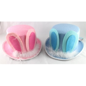 CHILDRENS EASTER TOP HAT W/EARS