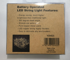 Battery Operated Led String Light Features
